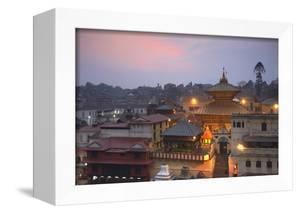 Pashupatinath Temple at Dusk, UNESCO World Heritage Site, Kathmandu, Nepal, Asia by Ian Trower