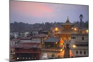 Pashupatinath Temple at Dusk, UNESCO World Heritage Site, Kathmandu, Nepal, Asia by Ian Trower