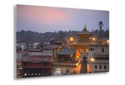 Pashupatinath Temple at Dusk, UNESCO World Heritage Site, Kathmandu, Nepal, Asia