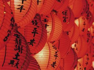 Red Lanterns at Temple, Taichung, Taiwan by Ian Trower
