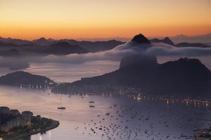Sugarloaf Mountain (Pao De Acucar) at Dawn, Rio De Janeiro, Brazil, South America by Ian Trower