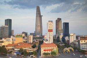 View of Bitexco Financial Tower and City Skyline, Ho Chi Minh City, Vietnam, Indochina by Ian Trower