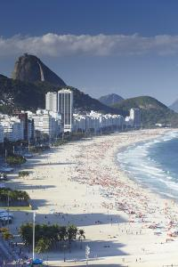 View of Copacabana Beach, Rio de Janeiro, Brazil, South America by Ian Trower
