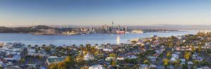 View of Devonport and Auckland Skyline at Dawn, Auckland, North Island, New Zealand by Ian Trower