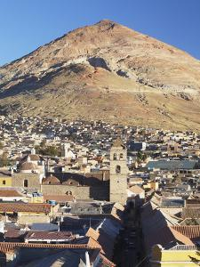 View of Potosi (UNESCO World Heritage Site) with Cerro Rico in Backgound, Bolivia by Ian Trower