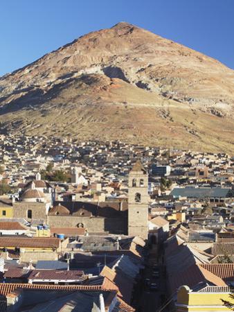 View of Potosi (UNESCO World Heritage Site) with Cerro Rico in Backgound, Bolivia