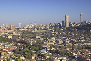 View of skyline, Johannesburg, Gauteng, South Africa, Africa by Ian Trower