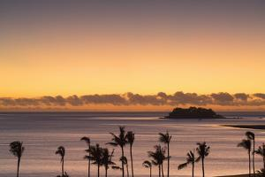 View of Wadigi Island at Sunset, Mamanuca Islands, Fiji by Ian Trower