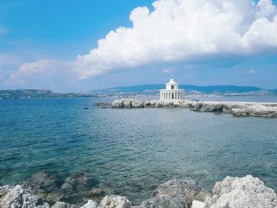 Kefalonia, the Lighthouse of Aghioi Theodoroi at Argostoli