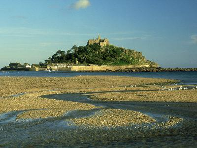 View South from Marazion Beach to St. Michaels Mount, Cornwall