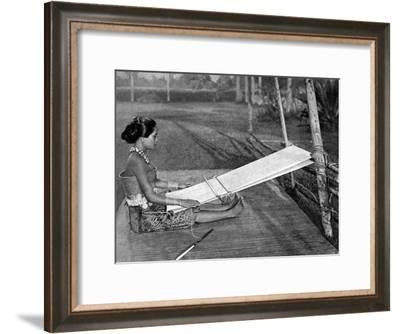 Iban Weaver, Borneo, 1922-Charles Hose-Framed Giclee Print