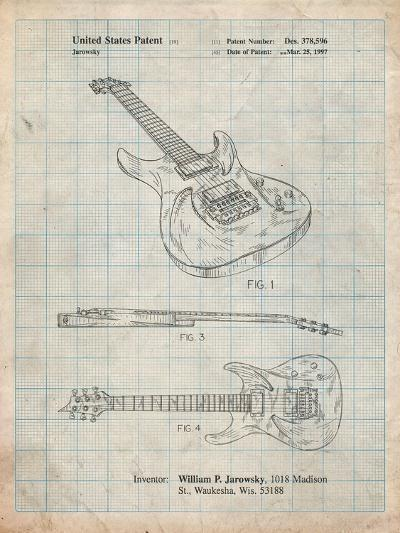 Ibanez Pro 540Rbb Electric Guitar Patent-Cole Borders-Art Print