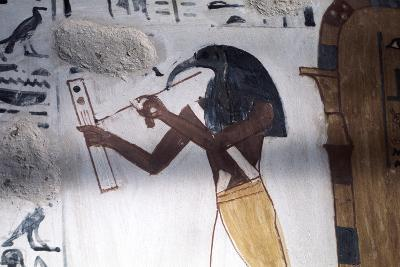 Ibis-Headed God Thoth, Secretary to the Gods and Patron of Scribes, Ancient Egyptian--Photographic Print