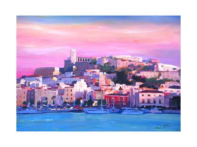 Ibiza Eivissa Old Town And Harbour Pearl Of The Mediterranean-Markus Bleichner-Art Print