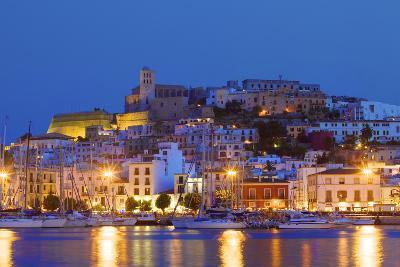 Ibiza Harbour at Night, Ibiza, Balearic Islands, Spain, Europe-Neil Farrin-Photographic Print