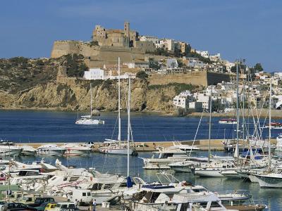Ibiza Town Skyline and Marina, Ibiza, Balearic Islands, Spain, Mediterranean, Europe-Lightfoot Jeremy-Photographic Print