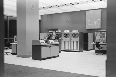IBM Computers and Office Area-Philip Gendreau-Photographic Print