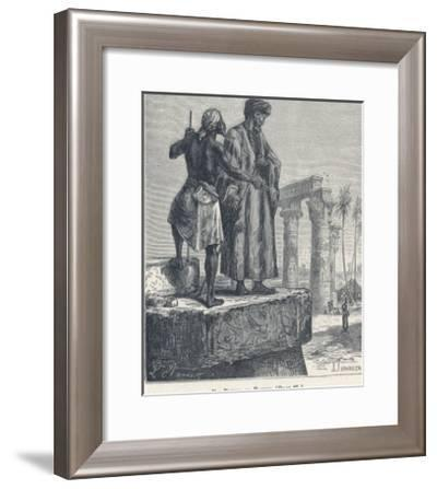 Ibn Batuta Arab Traveller with a Native in Egypt--Framed Giclee Print