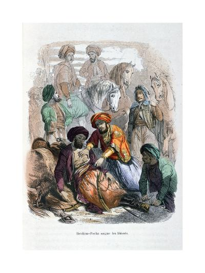 Ibrahim Pasha Looking after the Wounded, 1847- Etherington-Giclee Print