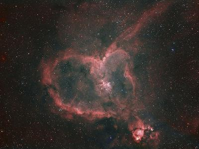 Ic1805, the Heart Nebula-Matthew Russell-Photographic Print