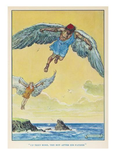 Icarus and Daedalus--Giclee Print