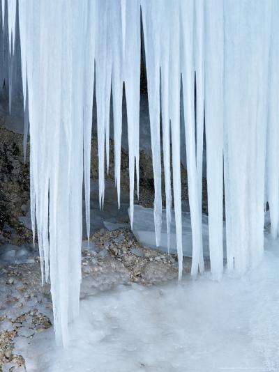 Ice Abstract, Slovenia-David Clapp-Photographic Print