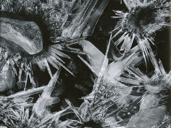Ice and Rock, c. 1970-Brett Weston-Photographic Print