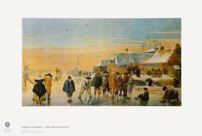 Ice Bowling-Hendrick Avercamp-Collectable Print