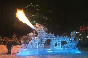 Ice Carving, Winterlude Celebration, Ottawa, Ontario, Canada