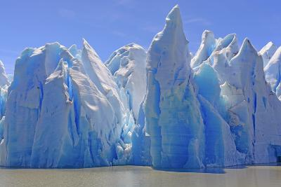 Ice Castles on a Sunny Day at the Grey Glacier in Torres Del Paine National Park in Patagonian, Chi-wildnerdpix-Photographic Print