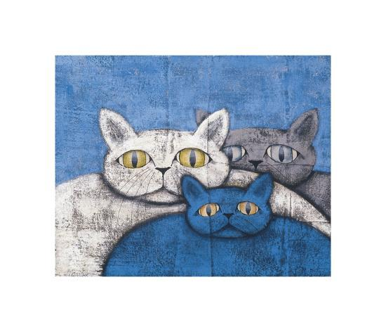Ice Cats-Kevin Snyder-Giclee Print