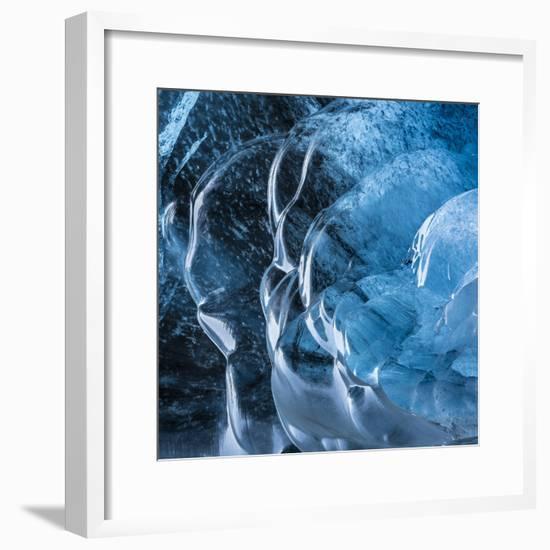 Ice Cave in the Glacier Breidamerkurjokull in Vatnajokull National Park-Martin Zwick-Framed Photographic Print