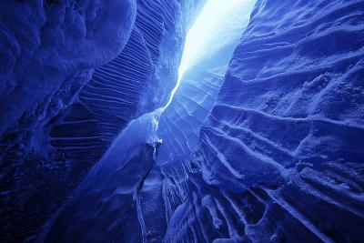 Ice Cave Spencer Glacier Kenai Peninsula Winter Alaska-Design Pics Inc-Photographic Print