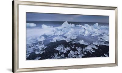 Ice Chunks on the Beach Next to Glacial River Lagoon Jškuls‡rlon (Lake), East Iceland, Iceland-Rainer Mirau-Framed Photographic Print