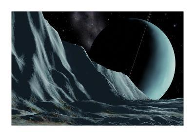 Ice Cliffs Of Miranda-David A Hardy-Premium Giclee Print