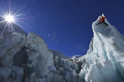 Ice Climbing in the Bernese Oberland, Swiss Alps-Robert Boesch-Photographic Print