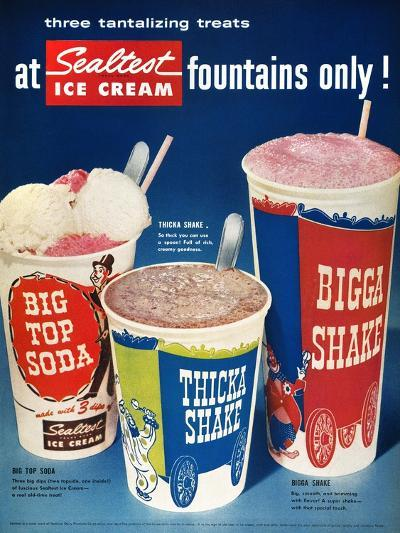 Ice Cream Ad, 1955--Giclee Print