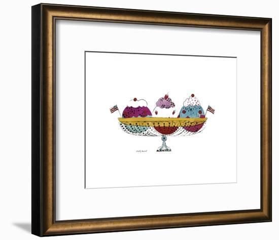 Ice Cream Dessert, c.1959 (3 Scoop)-Andy Warhol-Framed Art Print