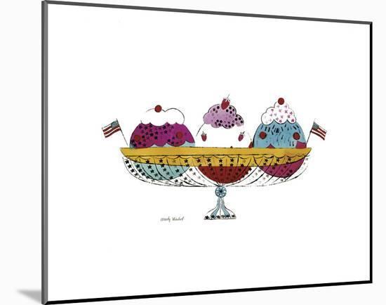 Ice Cream Dessert, c.1959 (3 Scoop)-Andy Warhol-Mounted Art Print