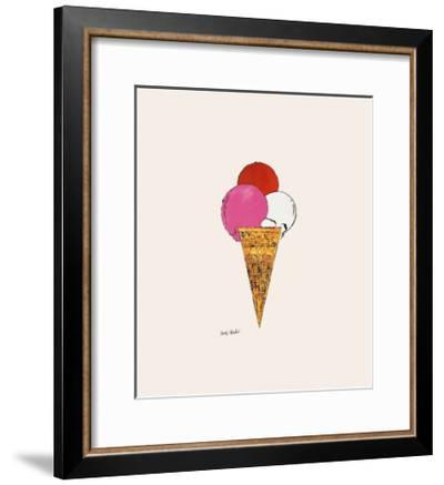 Ice Cream Dessert, c.1959 (Red, Pink and White)-Andy Warhol-Framed Giclee Print