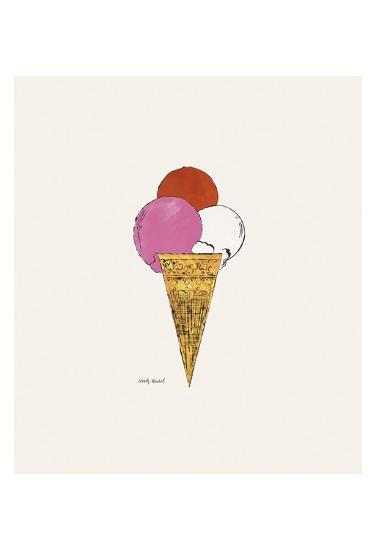 Ice Cream Dessert, c. 1959 (red, pink, and white)-Andy Warhol-Art Print