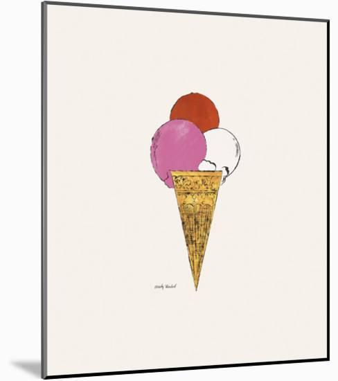Ice Cream Dessert, c. 1959 (red, pink, and white)-Andy Warhol-Mounted Art Print