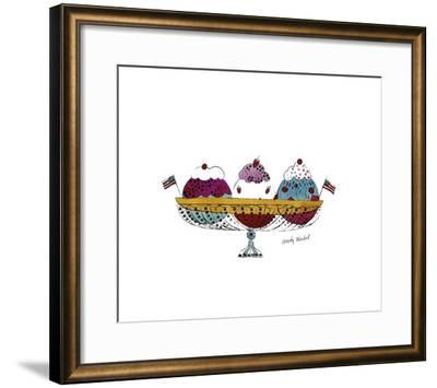 Ice Cream Dessert, c.1959 (Three Scoops)-Andy Warhol-Framed Giclee Print