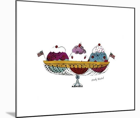 Ice Cream Dessert, c.1959 (Three Scoops)-Andy Warhol-Mounted Giclee Print