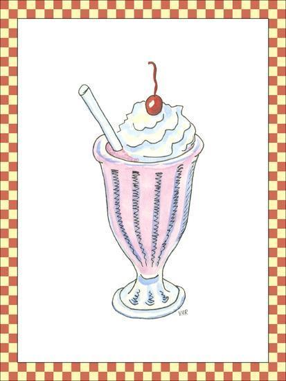 Ice Cream Parlor II-Virginia A^ Roper-Art Print