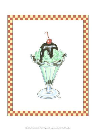 Ice Cream Parlor III-Virginia A^ Roper-Art Print