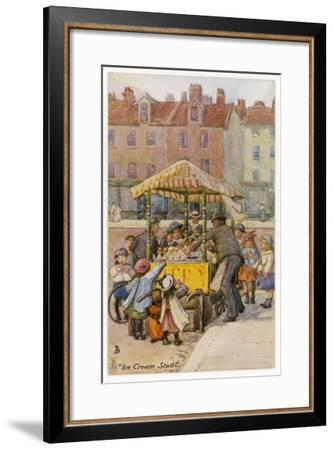 Ice Cream Stall--Framed Giclee Print
