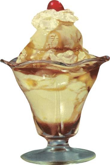 Ice Cream Sundae--Art Print