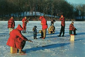 Ice Fishing in Red