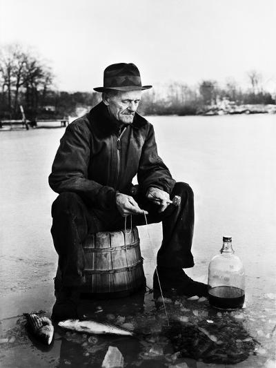 Ice Fishing--Photographic Print